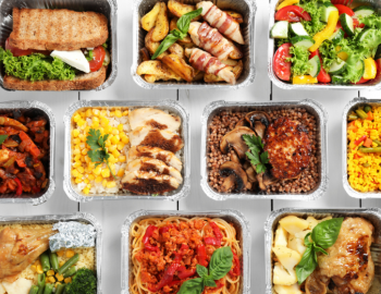 Food in take out containers