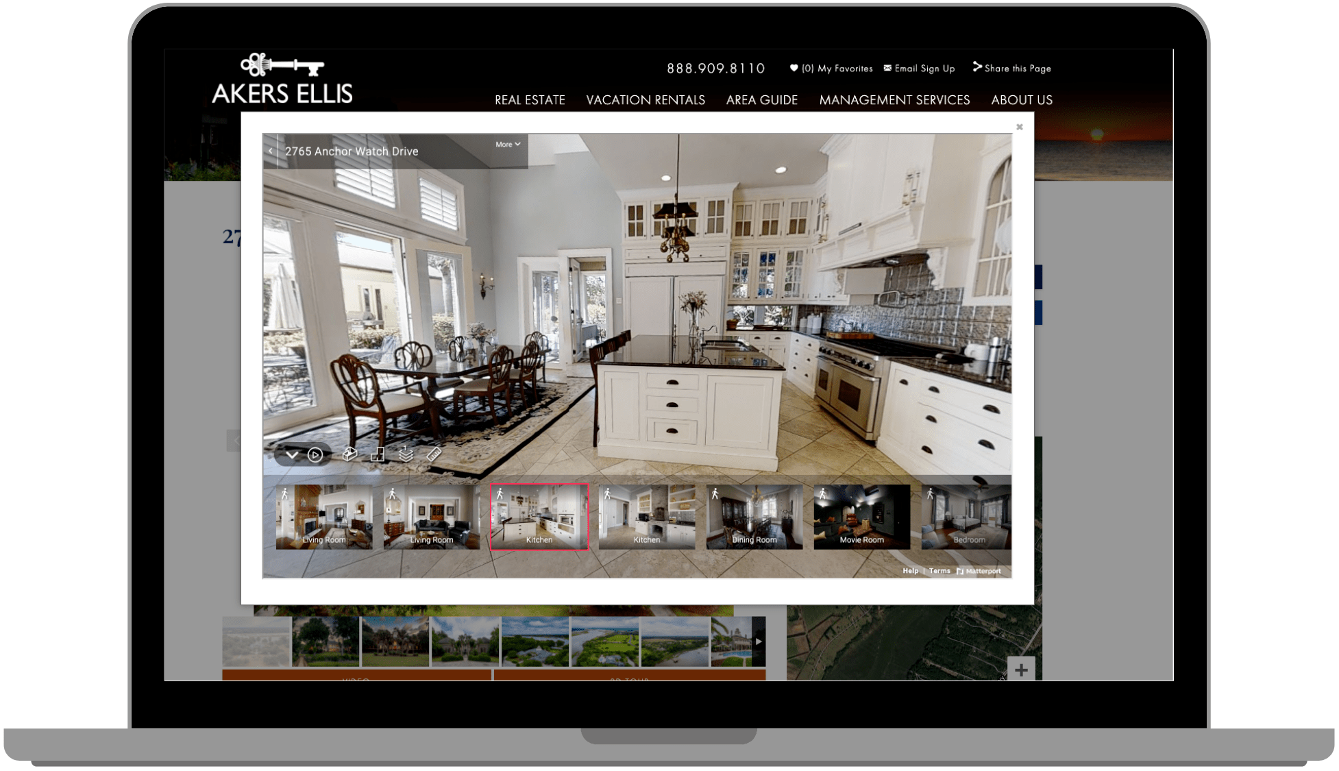 3D real estate tour on akersellis.com
