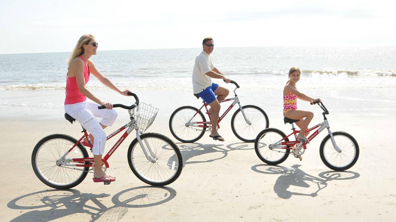 kiawah island bike rentals for family