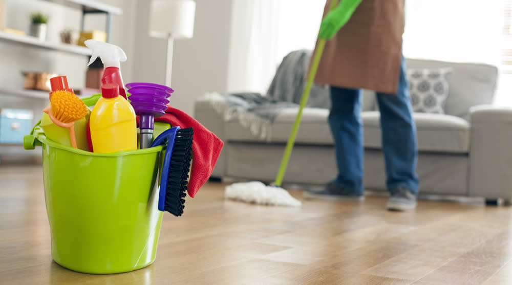 cleaning home for showings
