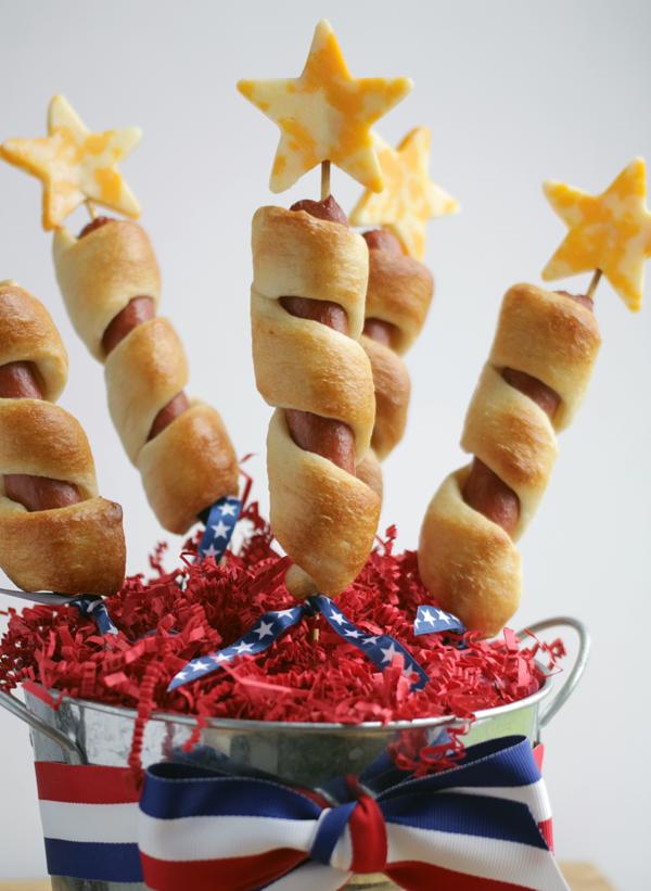 4th of july firecracker hot dogs
