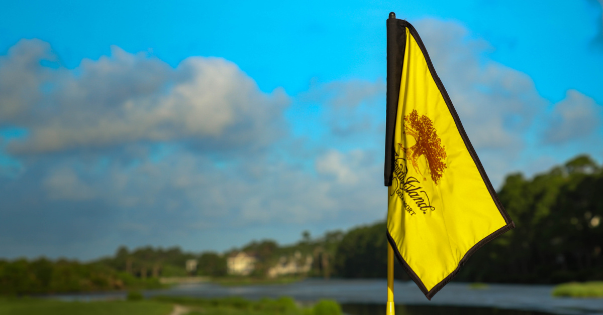 Kiawah Island golf flag